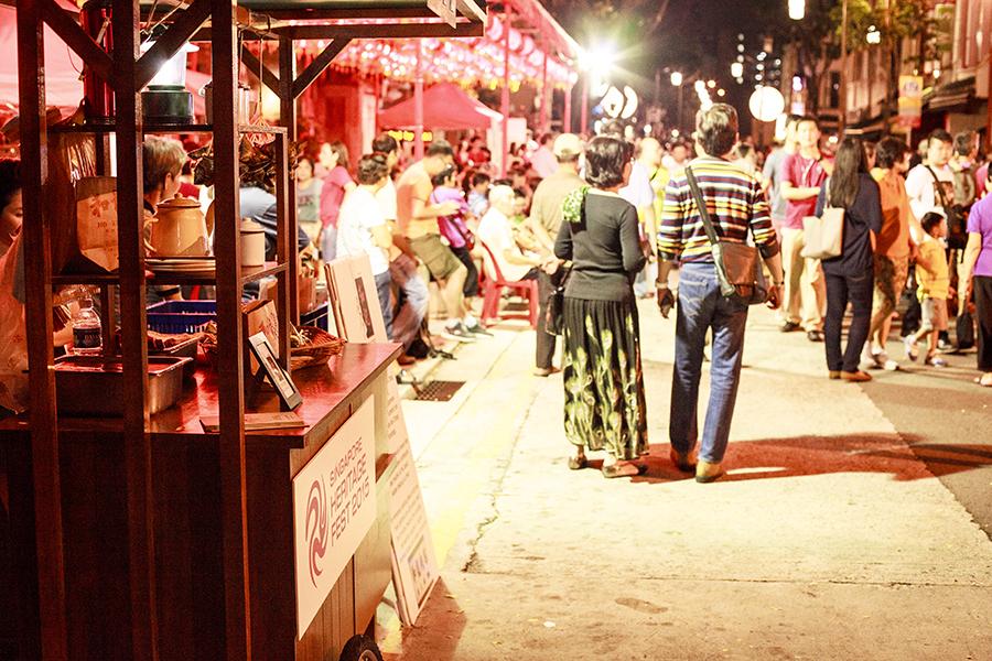 Festivities on Telok Ayer street, Singapore.