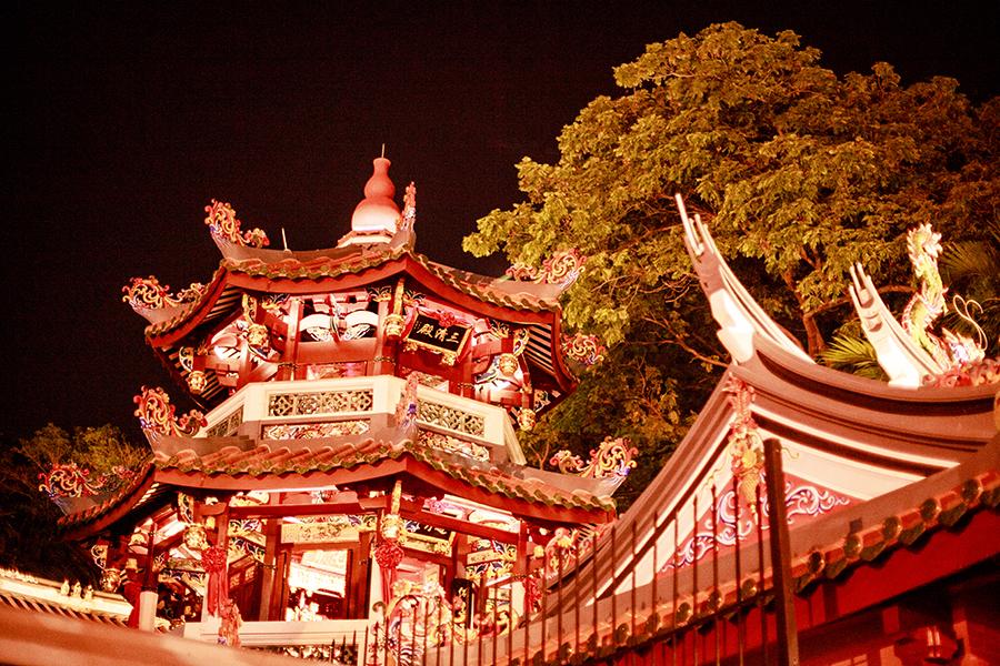 Chinese temple at Telok Ayer street, Singapore.