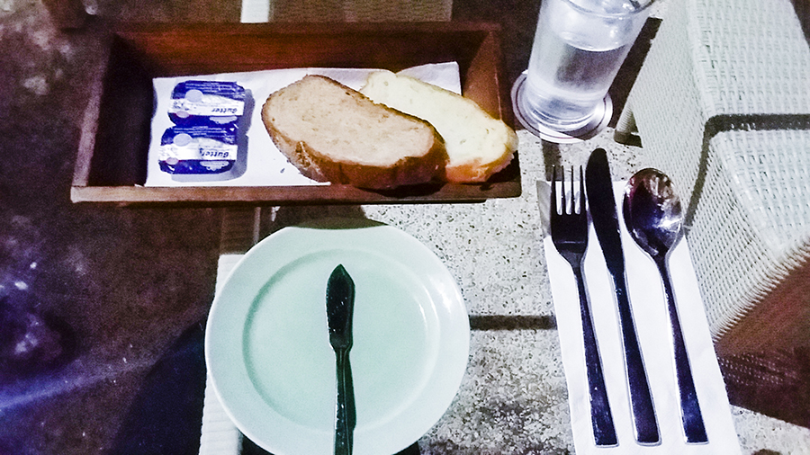 Complimentary bread and butter for every meal