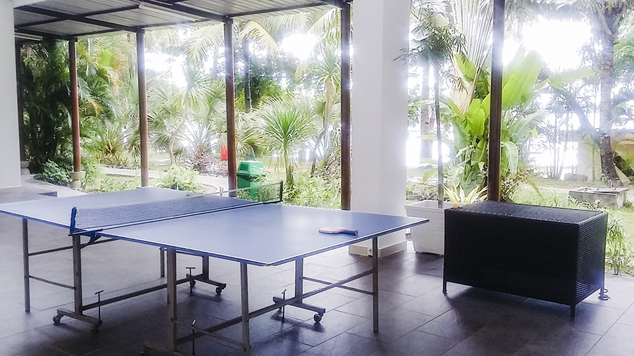 Ping pong (table tennis) tables at Harris Waterfront Resort, Batam, Indonesia.