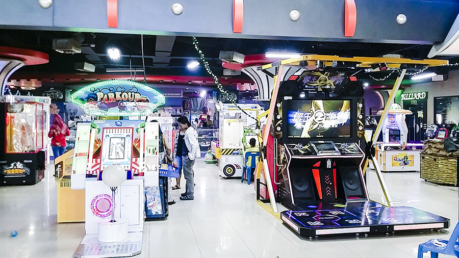 Arcade place at Nagoya Hill Shopping Center, Batam, Indonesia.