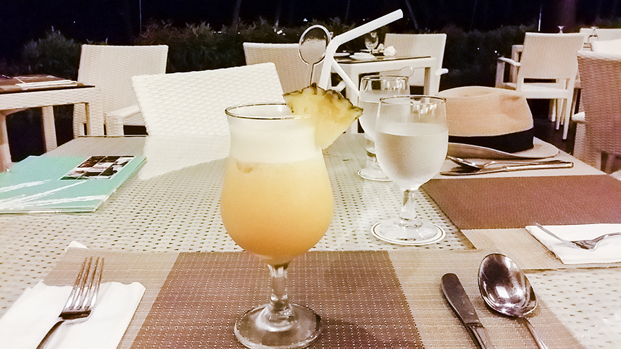 Cocktail at Taming Sari Café in Turi Beach Resort, Batam, Indonesia.