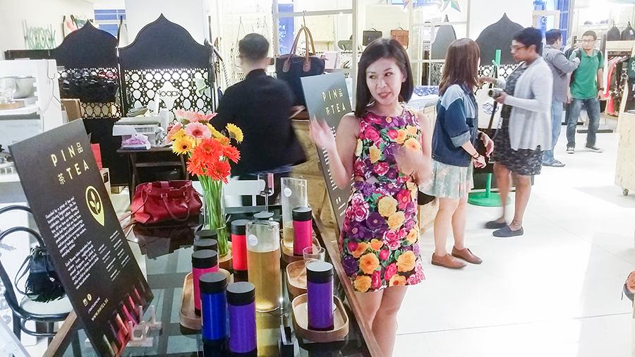 Introduction to Pin Tea 品茶 at Kapok x Olivia Burton launch at National Design Centre, Singapore.