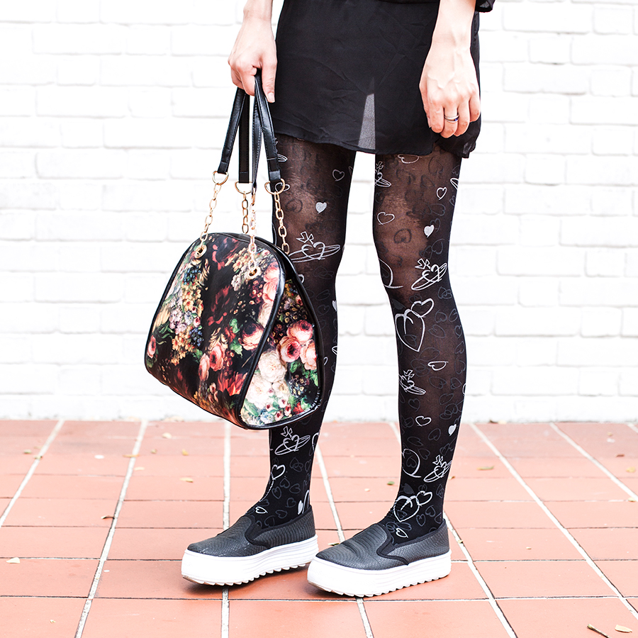 Find Myself Obsessing Over The Black And White Buffalo: Vivienne Westwood Tights