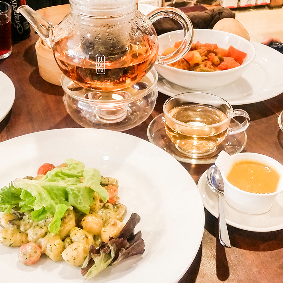 Delicious Gnocchi at O'ways Teacafe, Cape Town.