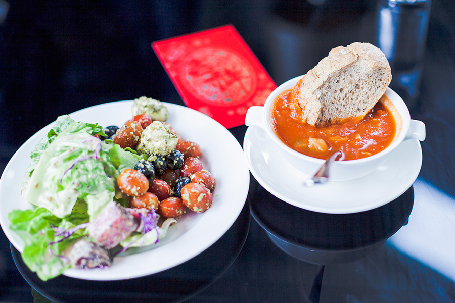 Amazing choice of salads and delicious Minestrone soup (and wheat bread) at the Lazada Singapore's Blogger Bazaar.