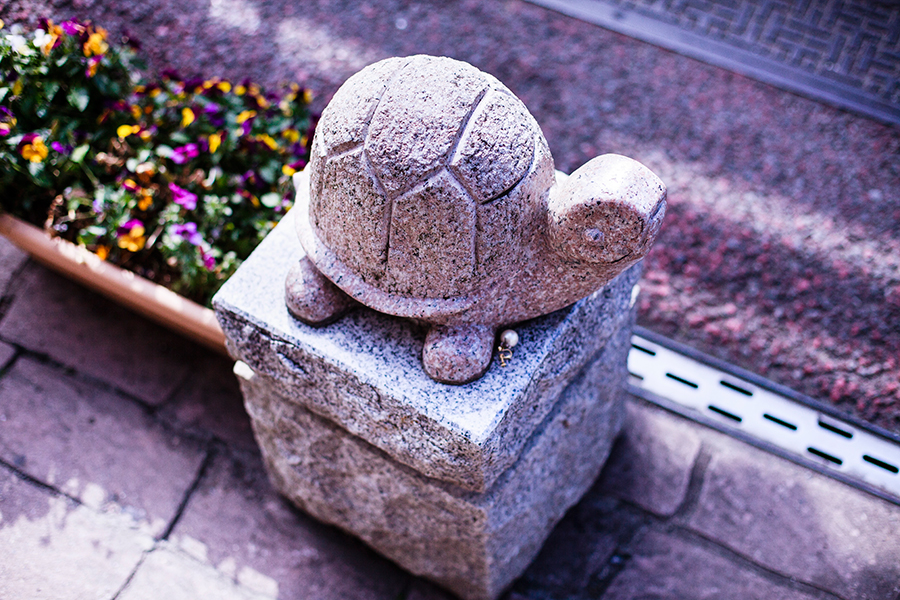 Tortoise sculpture at Omotesando at Narita, Chiba, Japan