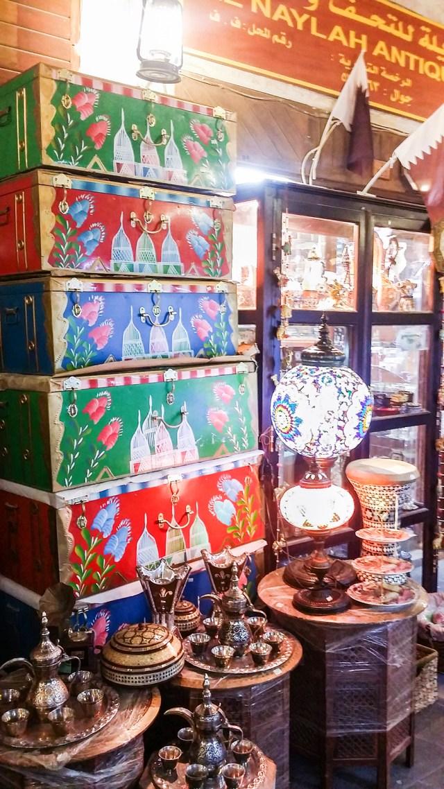 Colourful craftwork at Souq Waqif (سوق واقف), Doha, Qatar.