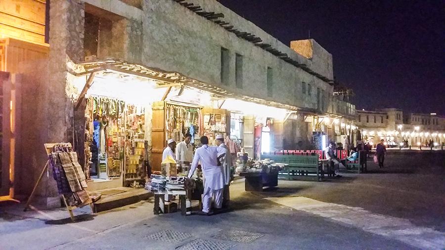Shops at Souq Waqif (سوق واقف), Doha, Qatar.
