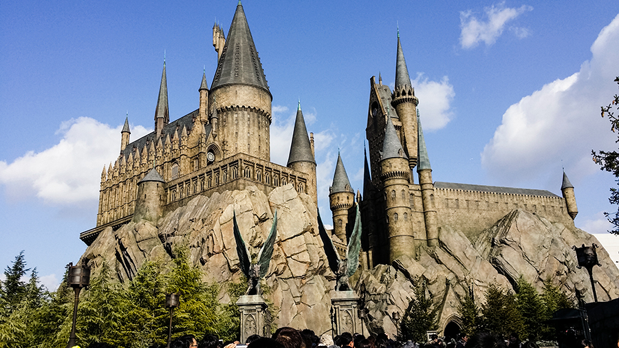 Castle at The Wizarding World of Harry Potter at Universal Studios Japan, Osaka.