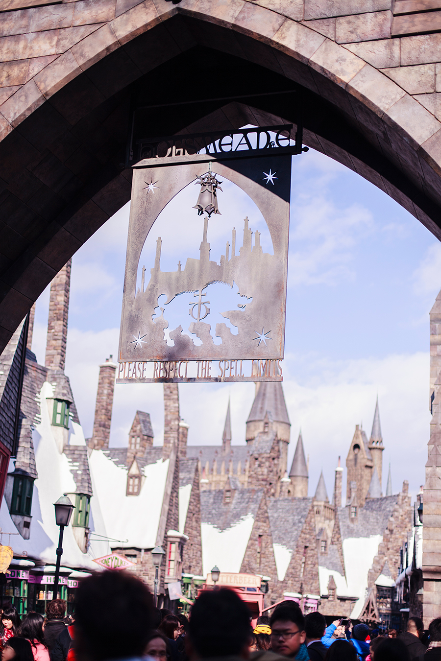 Entrance to The Wizarding World of Harry Potter at Universal Studios Japan, Osaka.