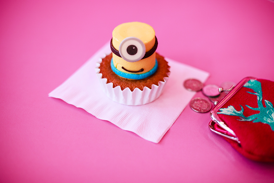 Minion cupcake at Pink Cafe in Universal Studios Japan, Osaka.