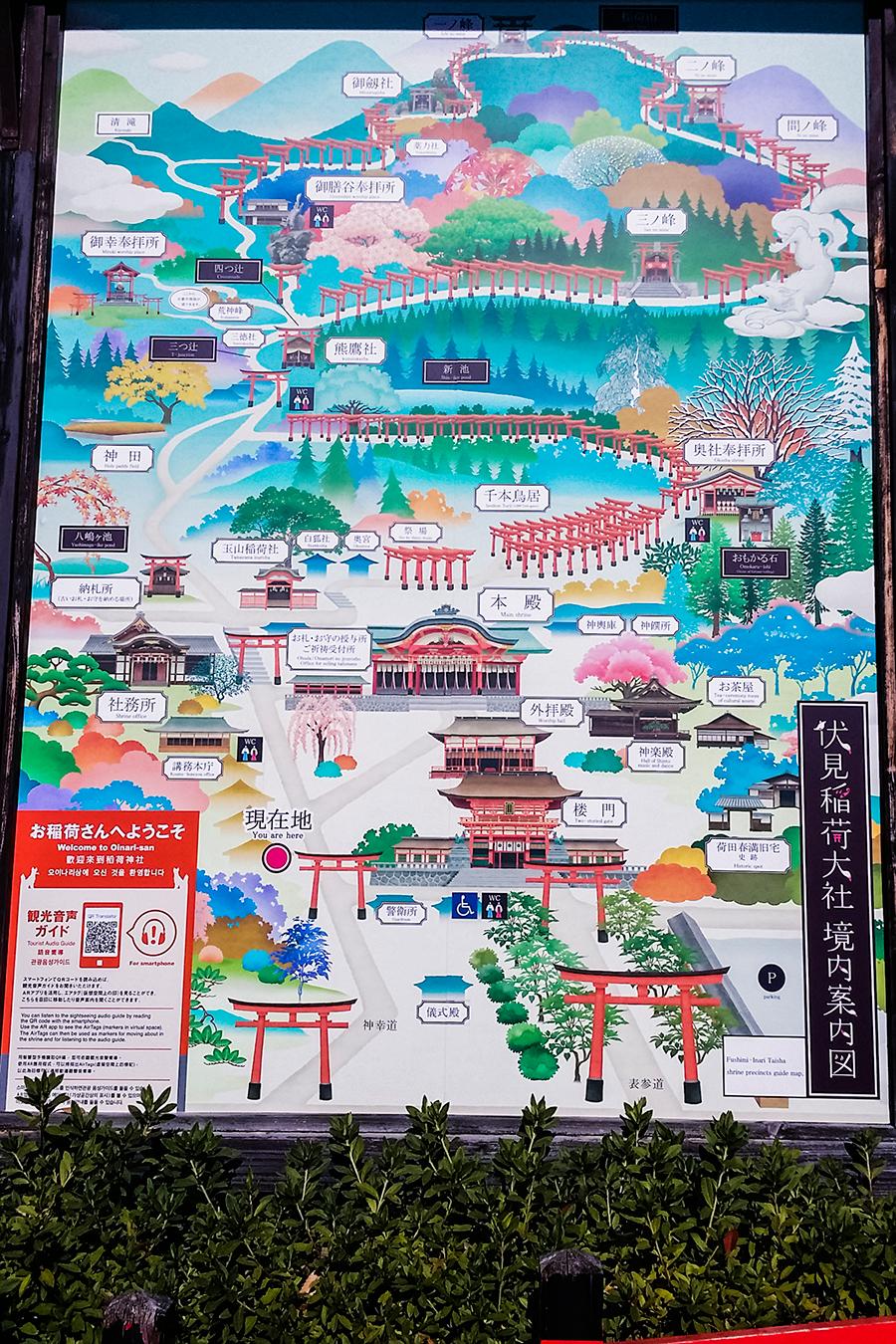 Fushimi Inari map.