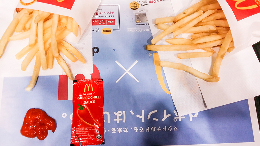 Bringing Garlic Chilli Sauce from Singapore to McDonald's in Tokyo, Japan.