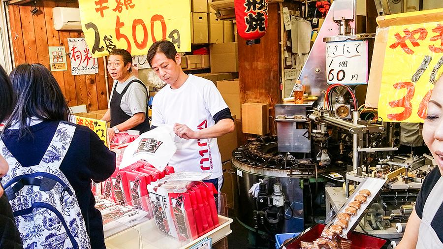 Ningyo-yaki store at Nakamise, Asakusa, Tokyo Japan.