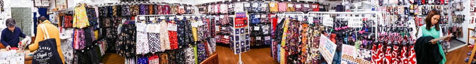 Panorama of Trunks-ya in Tokyo, Japan.