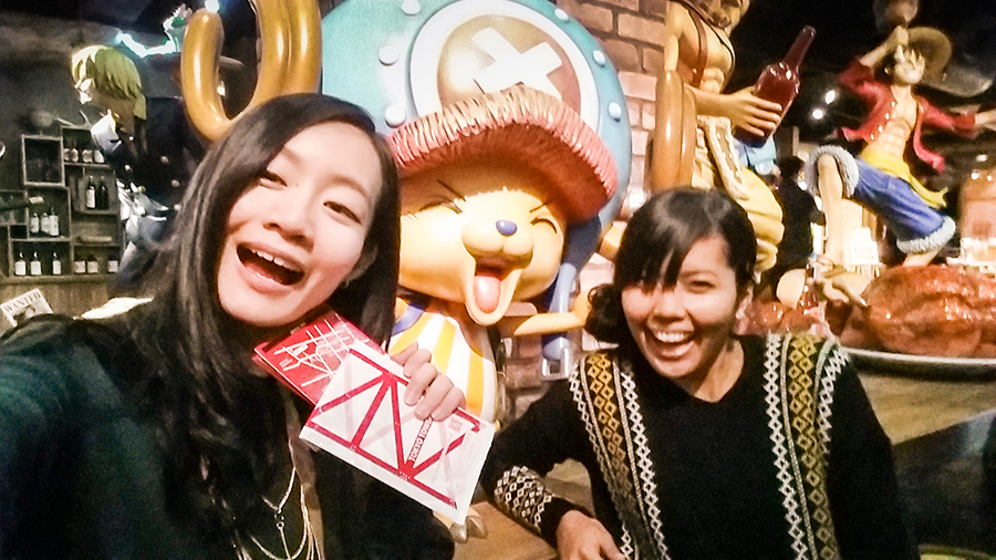 Selfie with Chopper at One Piece Tower, Tokyo Tower Japan.