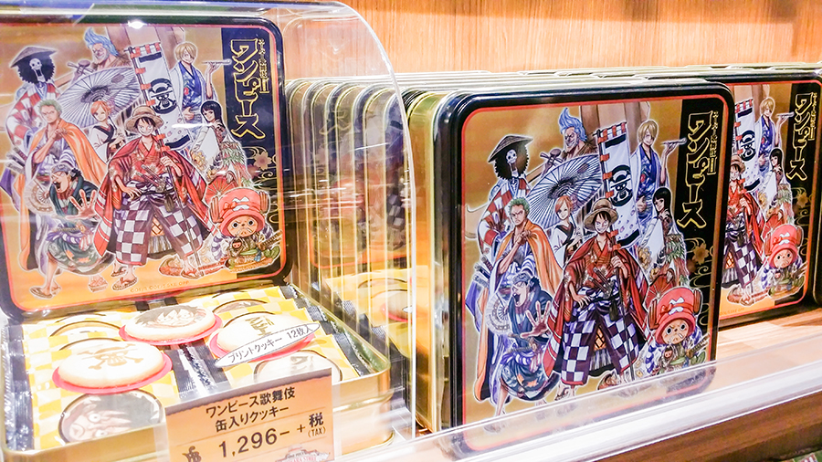 One Piece biscuits at the Mugiwara Store at One Piece Tower, Tokyo Tower Japan.