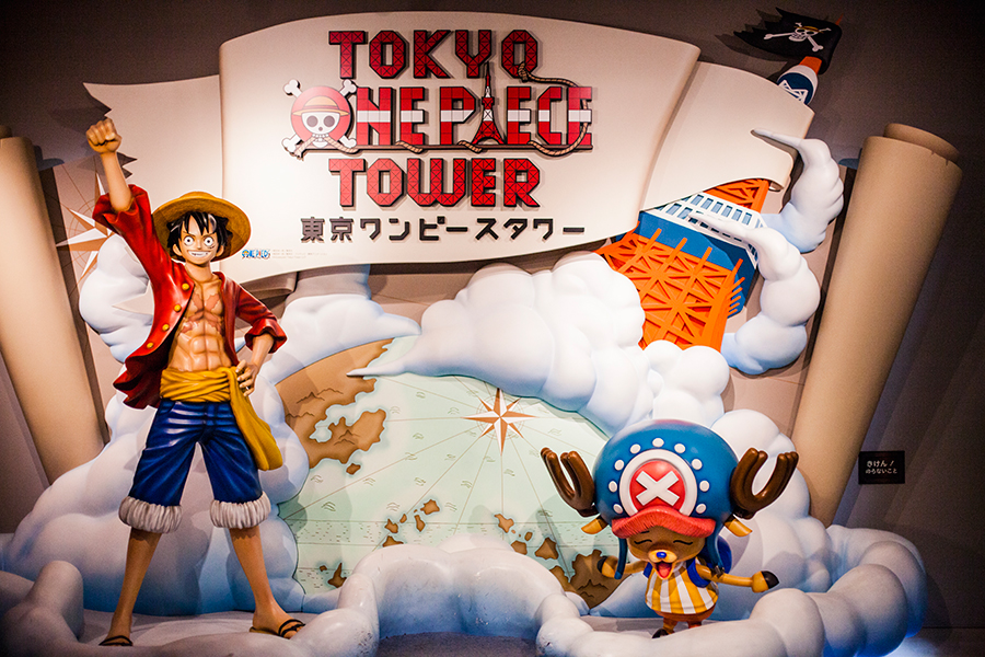 Entrance to the One Piece Tower, Tokyo Tower Japan.