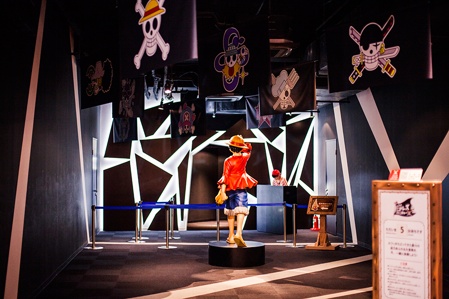 Entrance to a minigame at One Piece Tower, Tokyo Tower Japan.