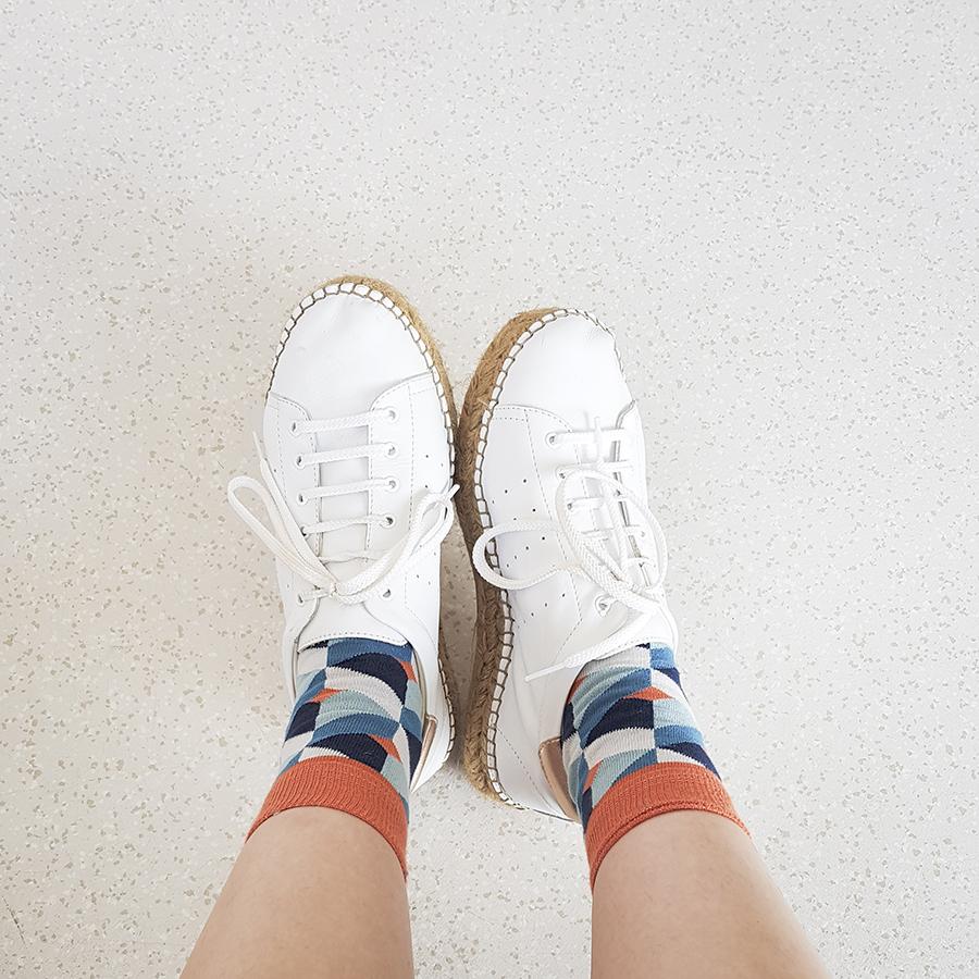 Sammy Icon Gaudi socks, Kurt Geiger Lovebug sneakers.