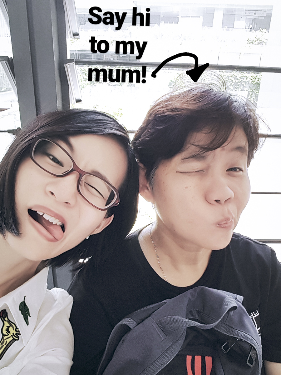 Instagram Stories wefie with my mother.