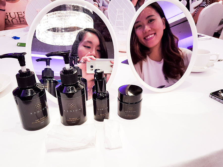 Radium skincare demonstration Imedeen beauty workshop at Holiday Inn Singapore Orchard City Centre.