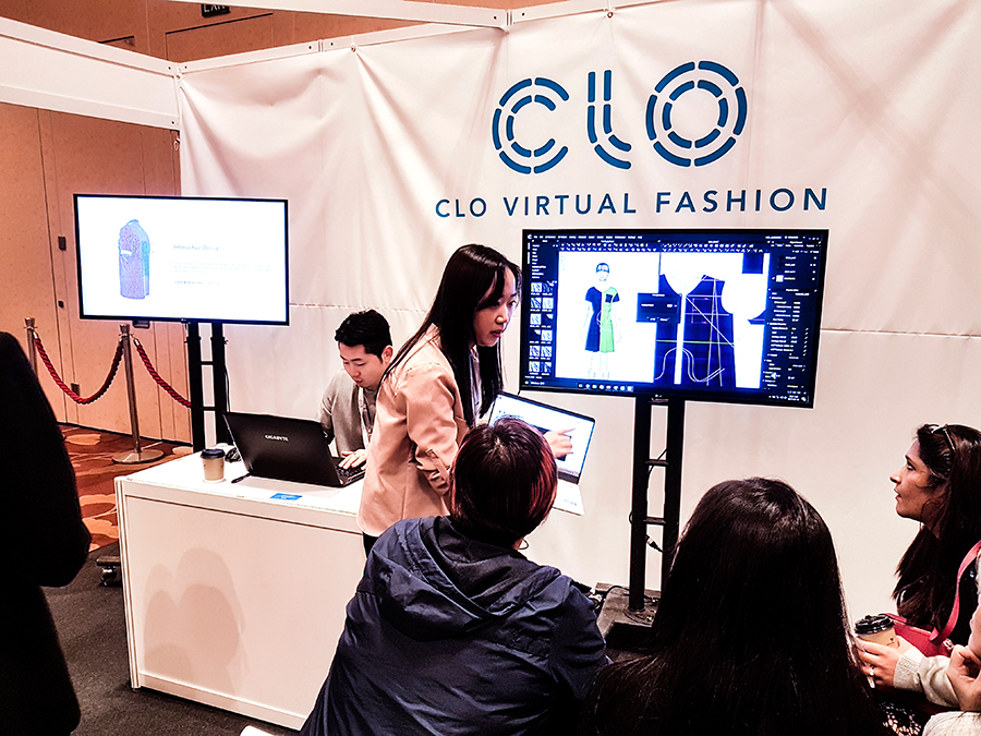 CLO Virtual Fashion demo at FUZE2017 at Marina Bay Sands.