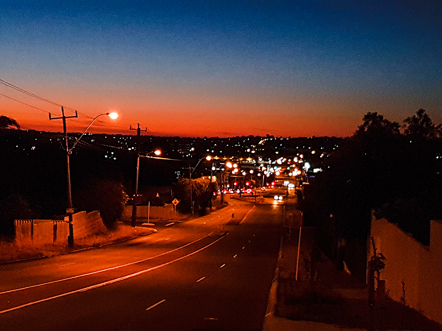 Beautiful twilight sky in Perth Australia.