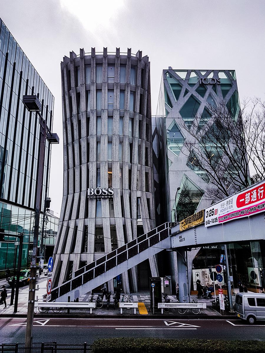 Hugo Boss building in Tokyo.