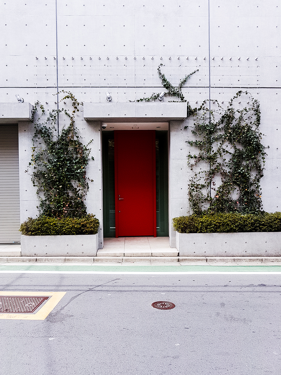 Building facade in Tokyo.