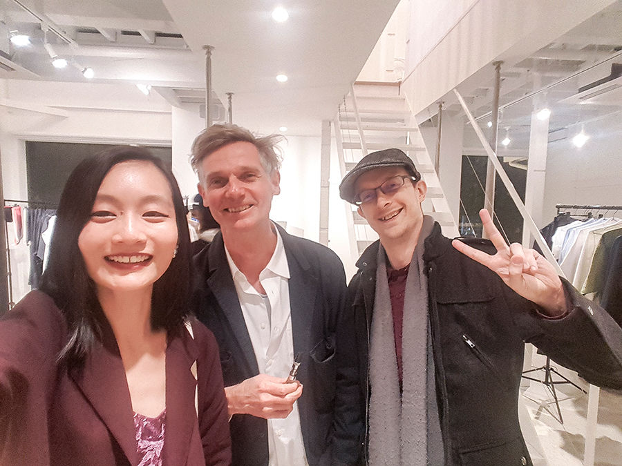 Selfie with curator Andreas Spiegl at PREFACE: Image Politics in Fashion and Arts for Amazon Fashion Week Tokyo 2017.