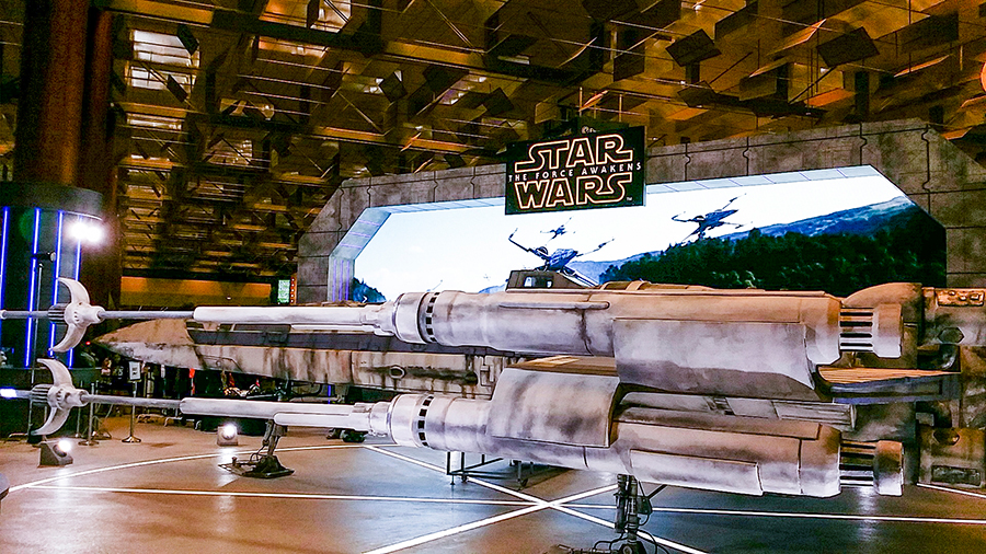 Star Wars exhibit at Singapore Changi Airport.