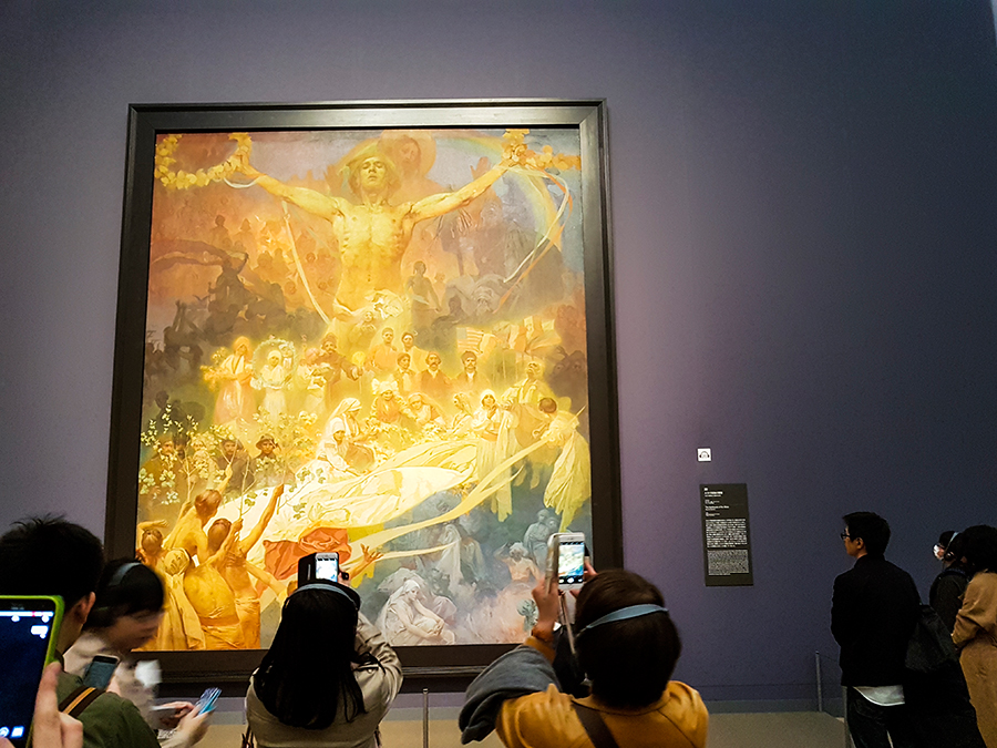 Alfons Mucha exhibit at Tokyo Art Center.