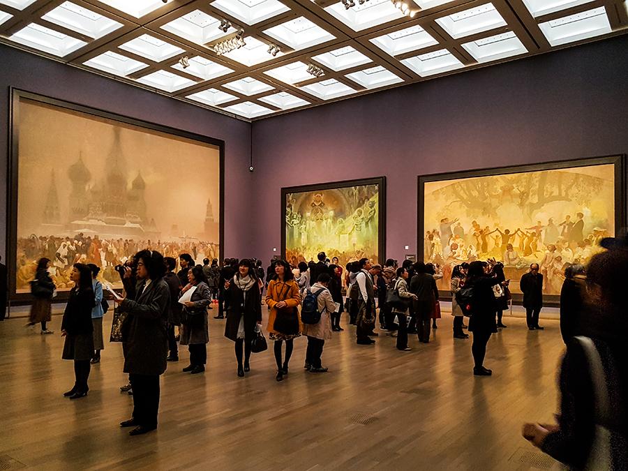 Alfons Mucha exhibit at Tokyo Art Center.