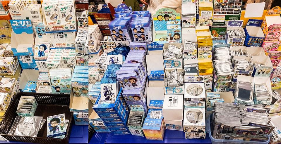 Yuri!!! on Ice merchandise in Animate Ikebukuro, Tokyo.