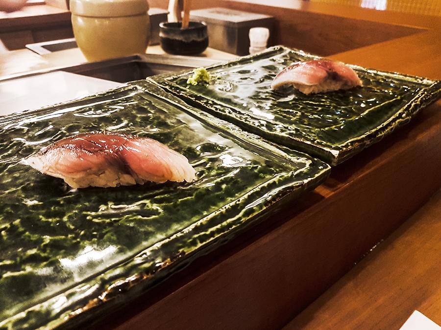Vinegared mackeral in Makoto Sushi.