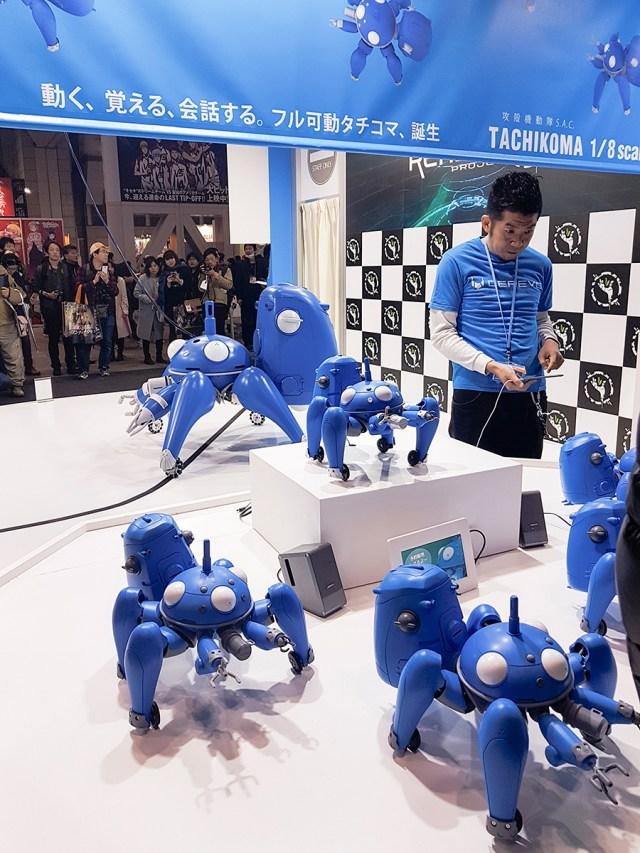 Robots at Anime Japan Expo 2017, Big Sight Tokyo.