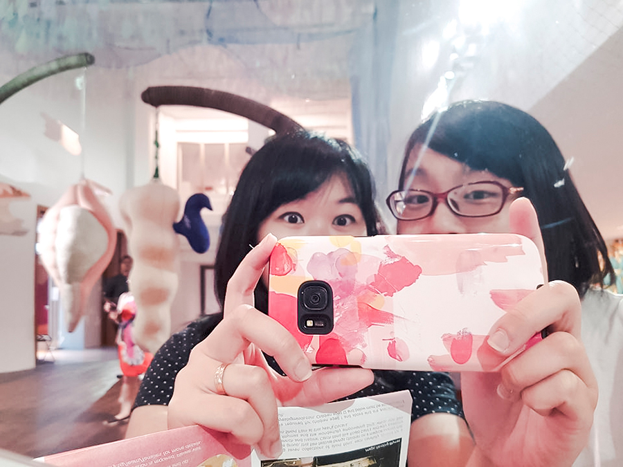 Mirror selfie at National Gallery Singapore.