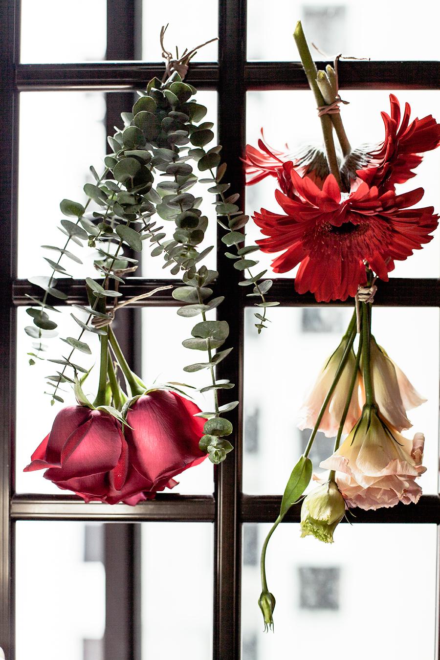 Flowers from the Floral Garage SG Fruit Hamper - Roses, Eustoma, Gerbera, Eucalyptus leaves.