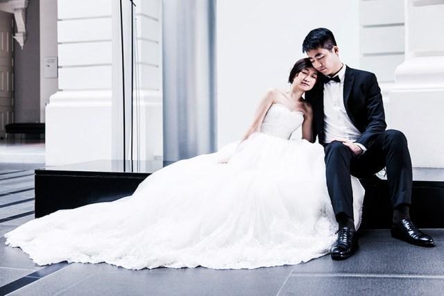 National Gallery Prewedding photoshoot for RJ & JR, Singapore.