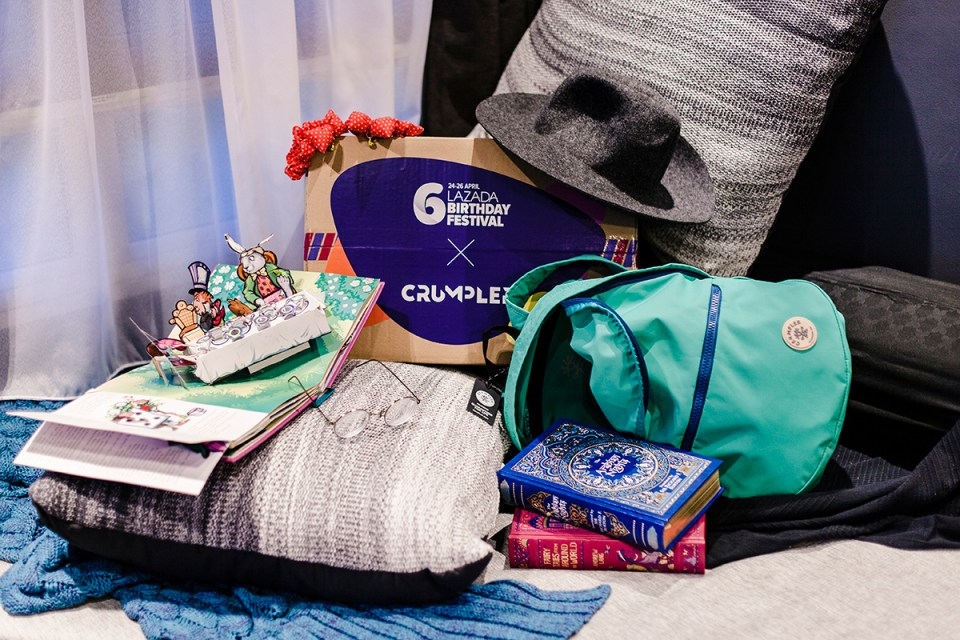 Lazada Birthday Festival 2018 Surprise Box: Crumpler photoshoot.