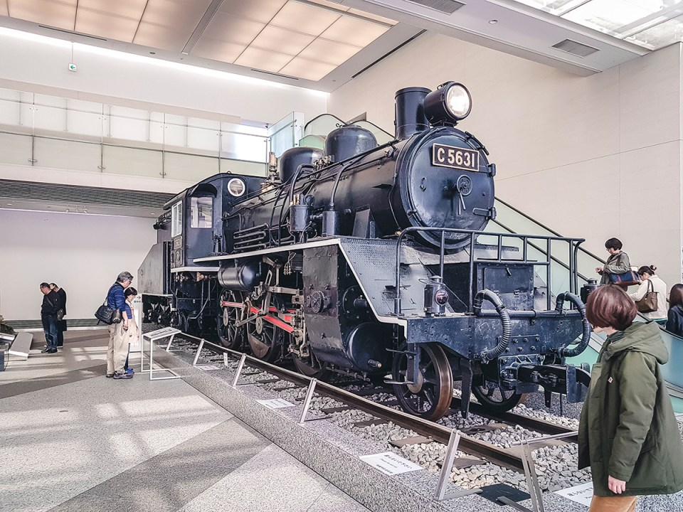 Yasukuni Shrine Museum: Model C56 Locomotive No. 31 from the Thai-Burma Railroad.