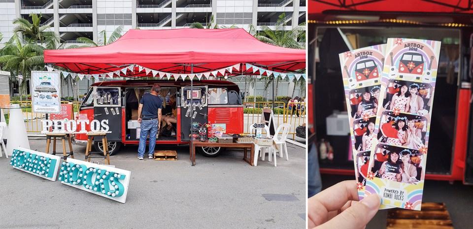 Kombi Rocks vintage car photobooth at Artbox Singapore 2018.