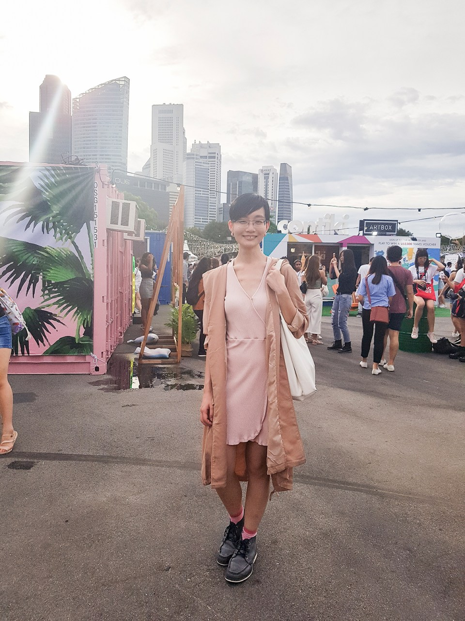 Outfit at Wefie with Kooling at Artbox Singapore 2018.