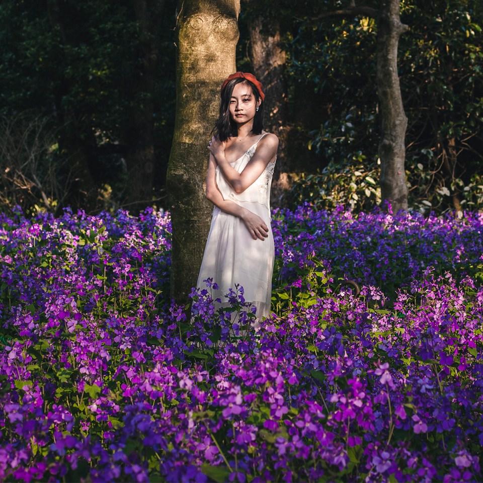 OOTD in Chiyoda Park in Spring.