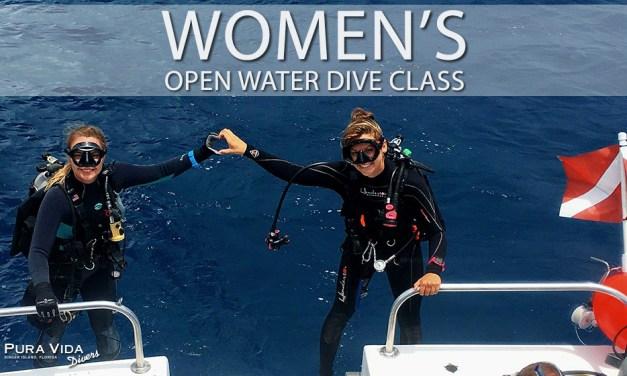 WOMEN'S OPEN WATER SCUBA CLASS