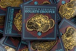 Goliath Grouper Pin