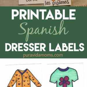 Spanish Dresser Drawer Labels Printable