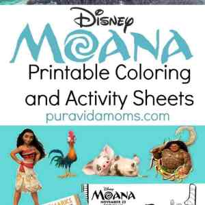 Moana Printable Coloring Sheets and Activity Pages
